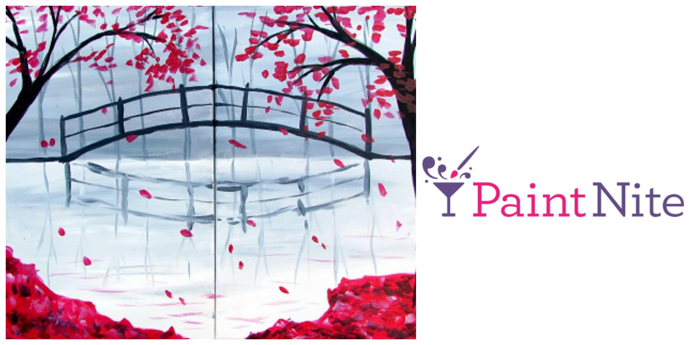 Bridge in the Fall - Valentine's Partner Painting Logo
